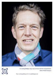 Geluksbrenger Edwin Woudt heeft altijd een glimlach om zijn mond. Foto: Ruben Timman | nowords.nl