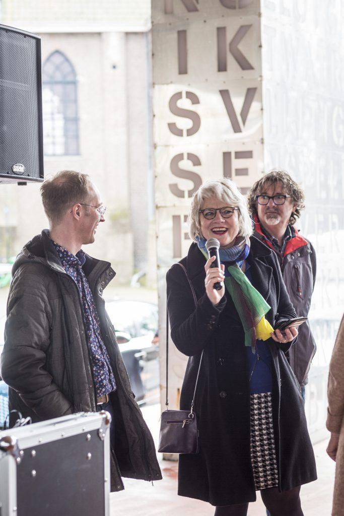 Wethouder Rita Visscher had een mooi verhaal over geluk Foto: Marjolein Oostingh en Ruben Timman   Nowords.nl