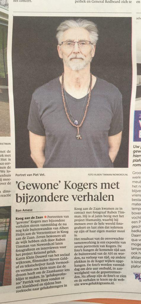 Aankondiging opening buitenexpo Albert Heijn Koog aan de Zaan 4 april NH Dagblad/Dagblad Zaanstreek