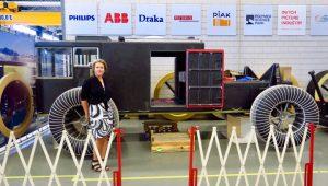 Liesbeth ter Velde voor de Solar Voyager, expeditie naar Antarctica, foto Sarah Vermoolen