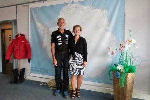 Edwin en Liesbeth ter Velde van Clean2Antarctica, foto Sarah Vermoolen