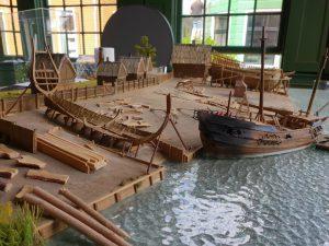 maquette Jelus Matster, historische scheepswerf