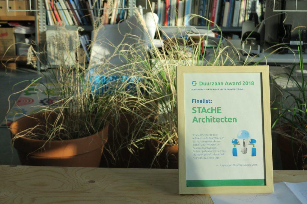 Eva Stache werd genomineerd voor de Duurzaan Award vanwege haar duurzame ontwerpen.